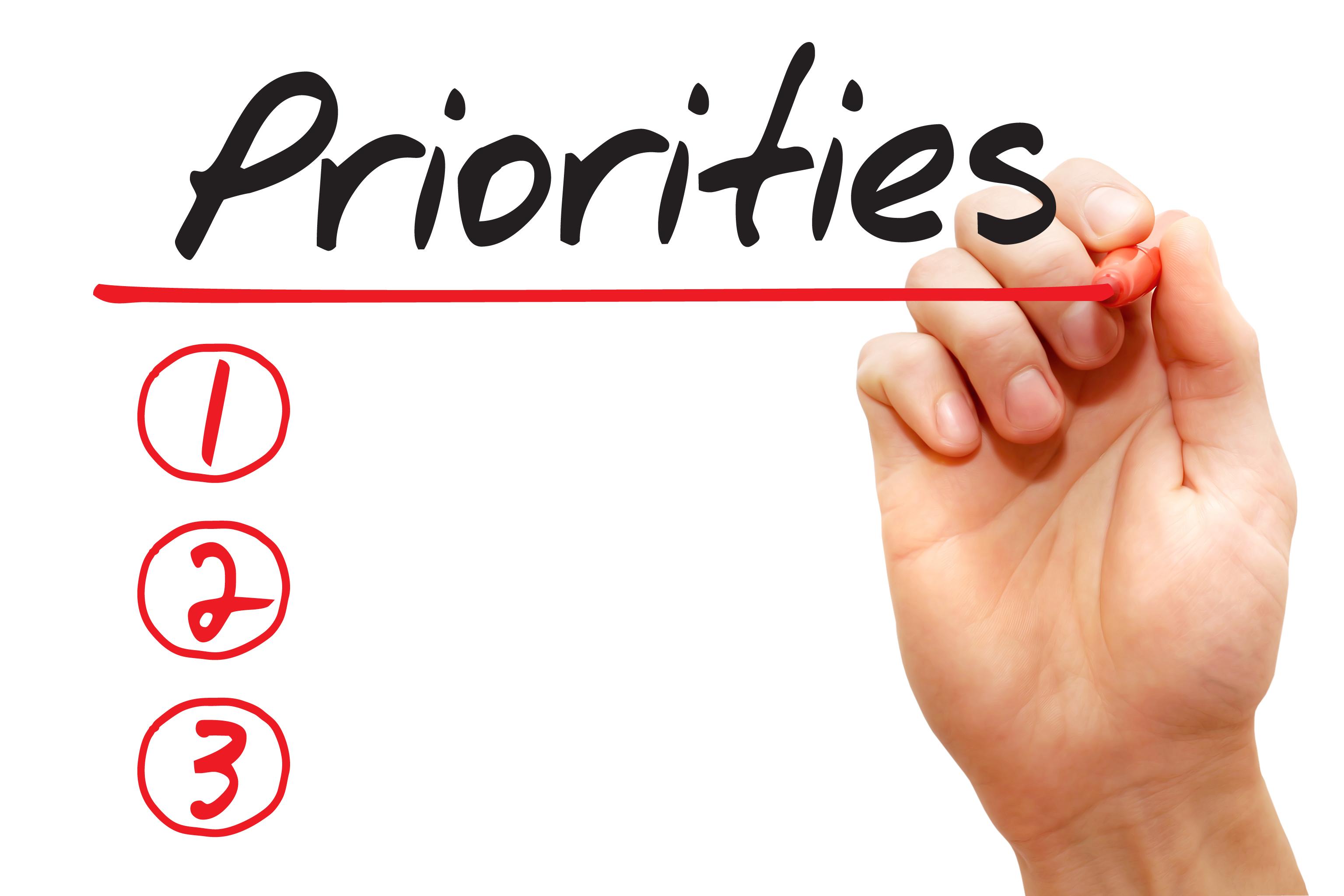 set meet own work priorities ultimate