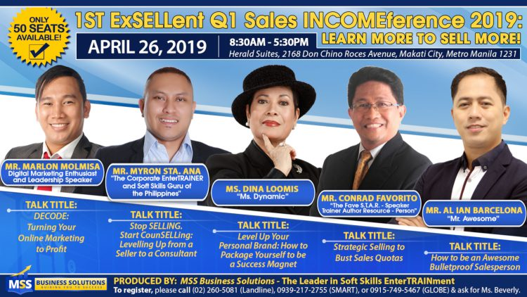 1st ExSELLent Q1 Sales INCOMEference 2019