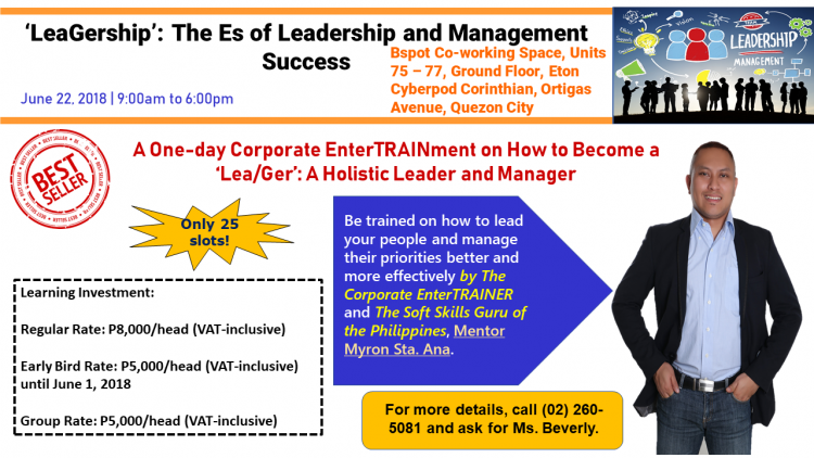 The Es of Leadership and Management Success: A 1-day Corporate EnterTRAINment on Becoming a LeaGer