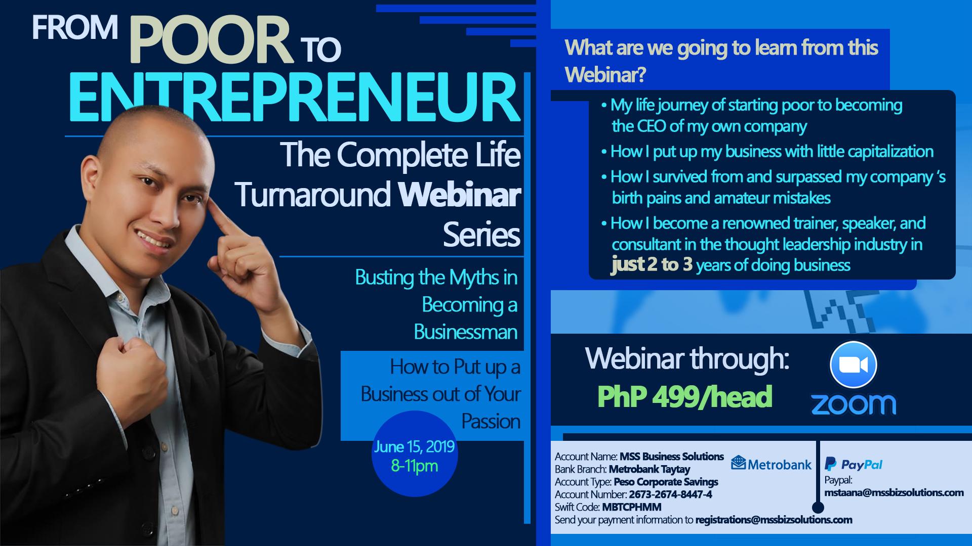 Entrepreneurship Webinar in the Philippines